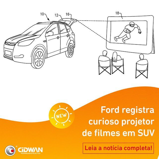 Ford registra curioso projetor de filmes em SUV